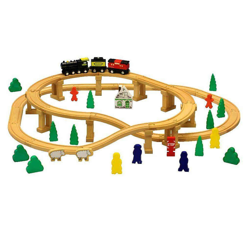 Trenino in legno giocattolo per bambini di beeboo un bel regalo per - Trenino di legno ikea ...