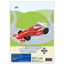 Auto Formula1 in Legno per Set Traforo