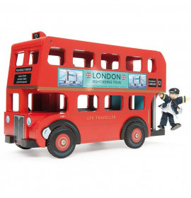 Autobus Due Piani in Legno