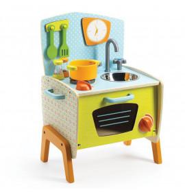 Cucina Giocattolo in Legno per bambini da 2 a 10 anni.