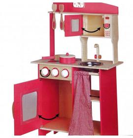 Cucina in Legno Rosa