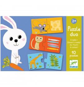 Puzzle Duo Djeco A Tavola