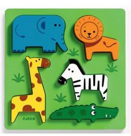 Djeco Puzzle Animali della Jungla