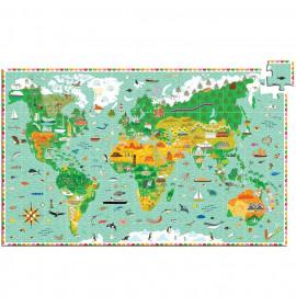 Puzzle Planisfero Djeco