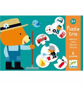 Djeco Puzzle Trio Al Lavoro