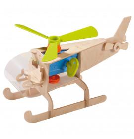 Kit Costruzione Elicottero in Legno Terra Kids Haba 7710