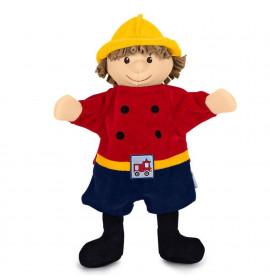 Marionetta giocattolo pompiere