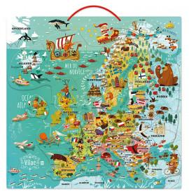 Puzzle In Legno Magnetico Europa
